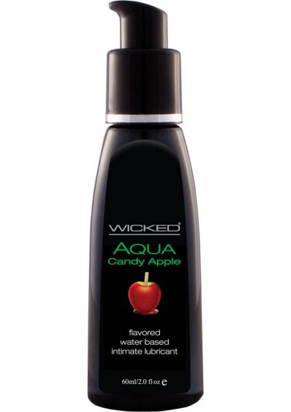 Wicked Aqua Water Based Flavored Lubricant Candy Apple 2 Ounce