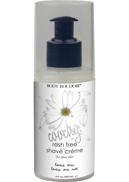 Body Boudoir Coochy Rash Free Shave Creme Loves Me Loves Me Not 4 Ounce Pump