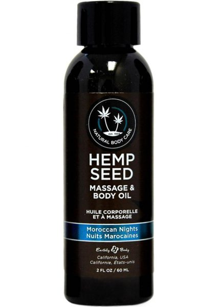 Earthly Body Hemp Seed With A Hint Of Fragrance and Body Oil Moroccan Nights 2 Ounces