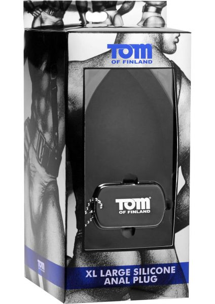 Tom Of Finland XL Silicone Anal Plug Black 5.5 Inch