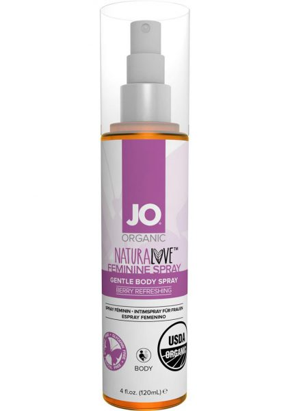 Jo Organic Naturalove Feminine Spray Berry Refreshing 4 Ounce