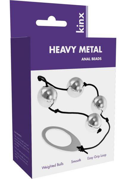 Kinx Heavy Metal Weighted Anal Beads 9 Inch