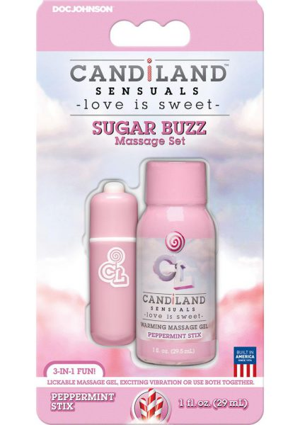 Candiland Sugar Buzz Massage Set Waterproof Bullet Peppermint Stix
