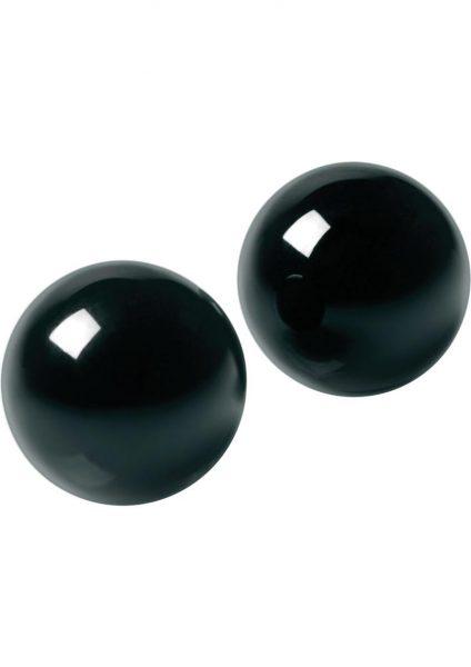 Master Series Jaded Glass Ben Wa Balls Black