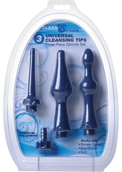 Clean Stream Universal Cleansing Tips Silicone Set Blue 3 Attachments Per Set