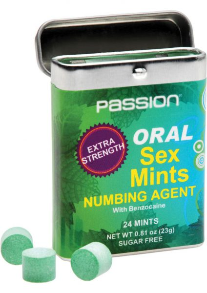 Passion Extra Strength Oral Sex Mints Numbing Agent 24 Mints Per Pack
