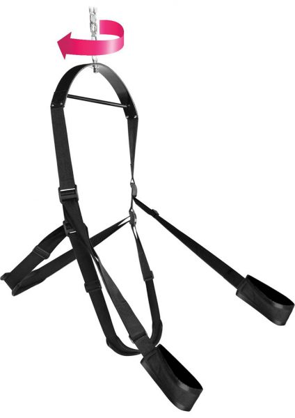 360 Trinity Spinning Sex Swing Packaged  Black