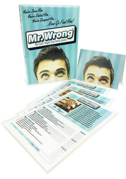Mr Wrong Girls Night Out Party Card Game