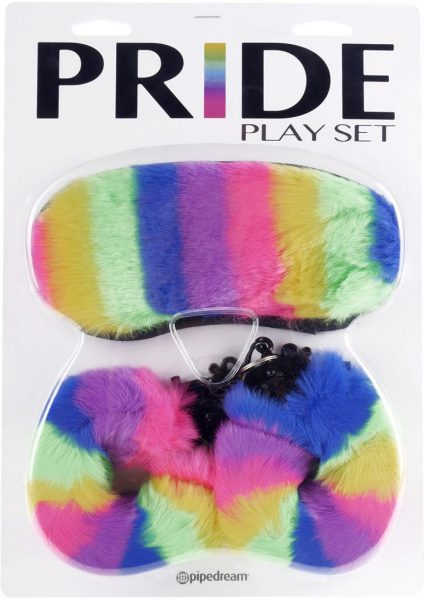 Pride Play Set Faux Fur And Metal Multi Colored