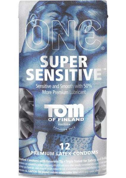 Tom Of Finland One Super Sensitive Premium Latex Condoms 12 Each Per Pack