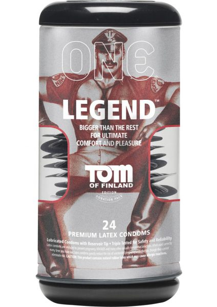 Tom Of Finland One Legend Premium Latex Condoms 24 Each Per Pack