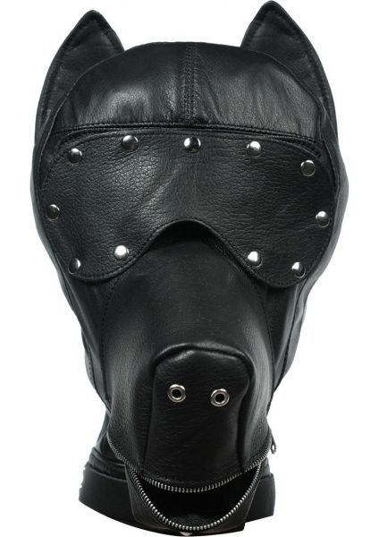 Ultimate Dog Hood Leather Black