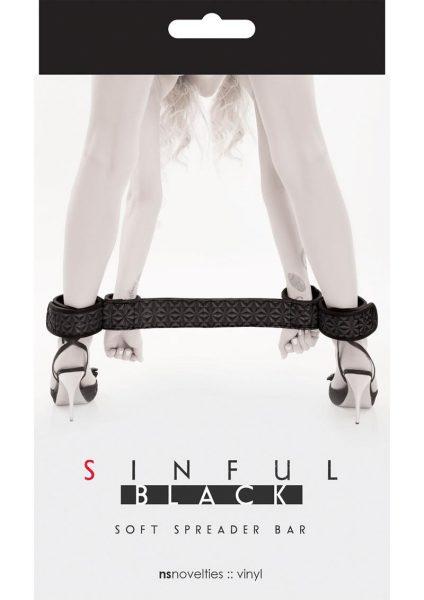 Sinful Soft Vinyl Spreader Bar Black