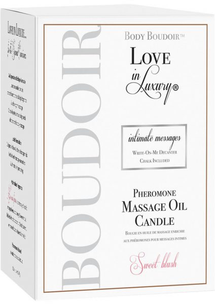 Body Boudoir Love In Luxury Intimate Messages Pheromone Massage Oil Candle Sweet Blush