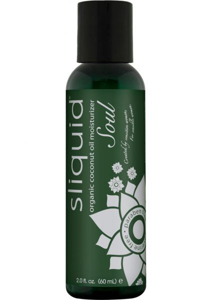 Sliquid Organic Coconut Oil Moisturizer Soul Paraben Free 2 Ounce