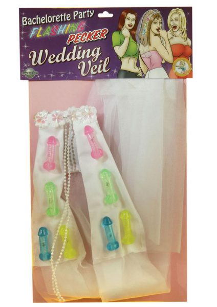 Bachelorette Light Up Pecker Veil