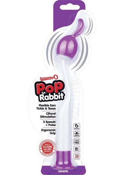 Screaming O Pop Rabbit Silicone Clitoral Vibe Grape