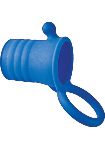 Maxx Men Clitmaster Silicone Cocksleeve Waterproof Blue