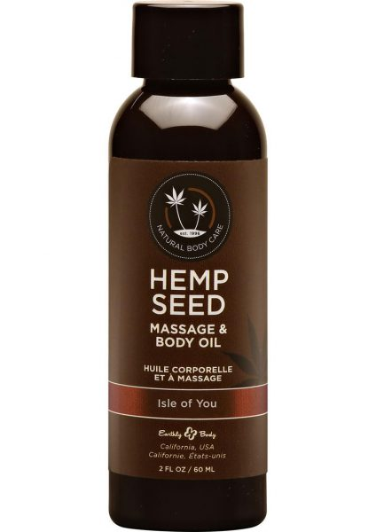 Hemp Seed Massage Oil 100% Natural Blend Isle For You 2 Ounce