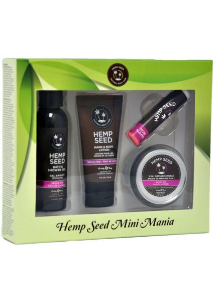 Hemp Seed Mini Mania Travel Bath And Body Set 100% Vegan Skinny Dip