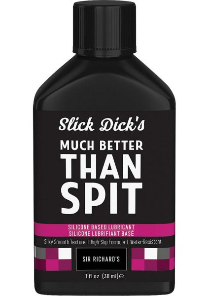 Slick Dick's Much Better Than Spit Silicone Based Lubricant 1 Ounce