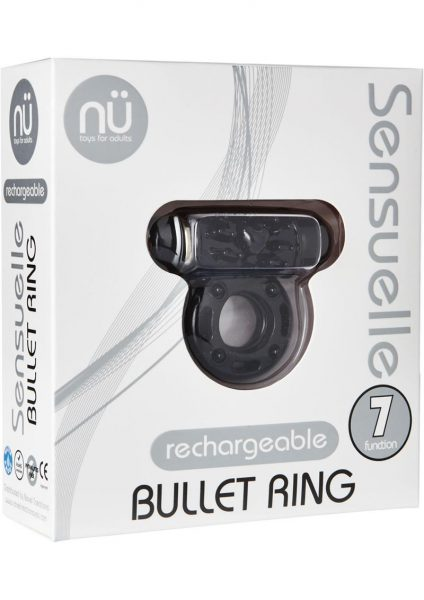 Sensuelle Bullet Ring 7 Function Cring Black