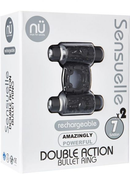 Sensuelle Double Action 2×7 Function Cring Black