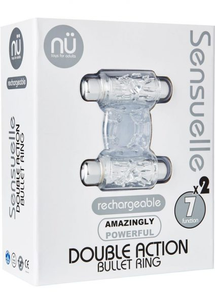 Sensuelle Double Action 2×7 Function Cring Clear