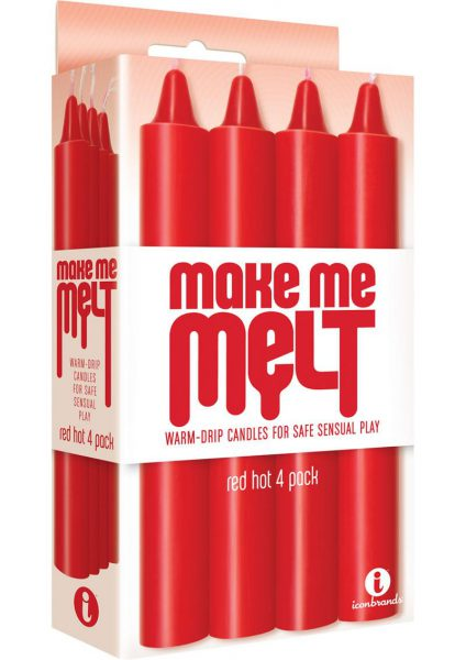 Make Me Melt Warm Drip Candles Red Hot 4 Pack