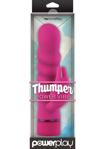 Power Play Thumper Silicone Power Vibe Waterproof Pink