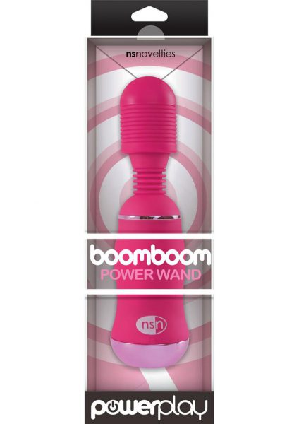 Power Play Boomboom Power Wand Massager Pink