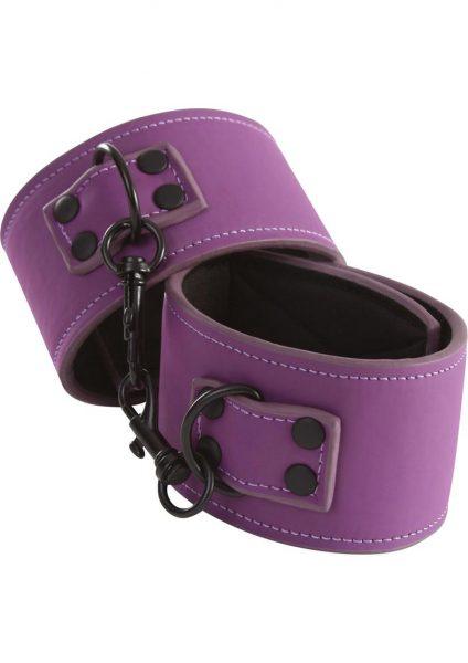Lust Bondage Ankle Cuff Purple And Black