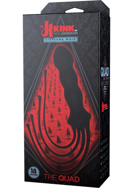 Kink The Quad Silicone Whip Black 18 Inch