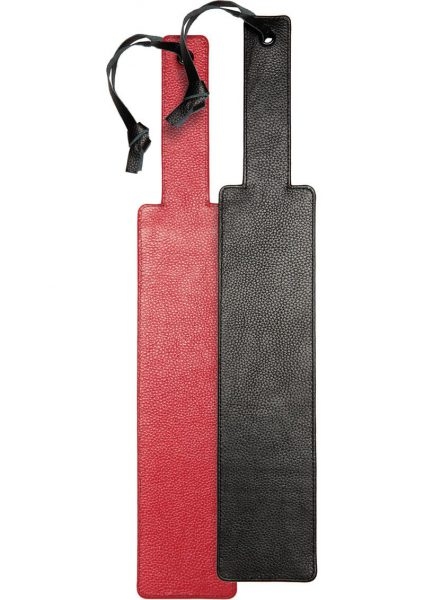 Kink Leather Punishment Paddle Red And Black 17.9 Inch
