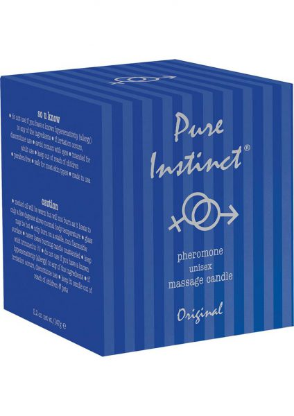 Pure Instinct Pheromone Unisex Massage Candle Original Scent 4.7 Ounce