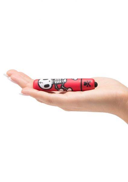 Tokidoki 'Jolly Roger' Dancing Skull Mini Bullet – Red