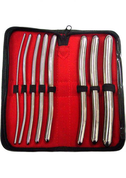 Rouge Metal Dilator 8 Piece Set Silver
