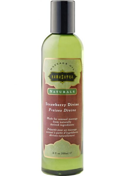 Naturals Sensual Massage Oil Strawberry Devine 8 Ounce