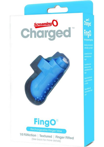 Charged Fing O Rechargeable Finger Vibe - Blue