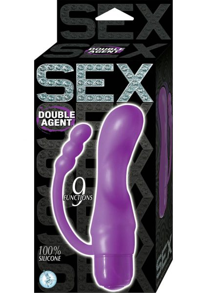 Sex Double Agent Silicone Vibe Purple
