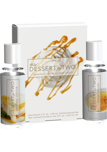 Dessert For Two Bananas Foster And Creme Brulee Lube Two Bottles 2 FL OZ Each