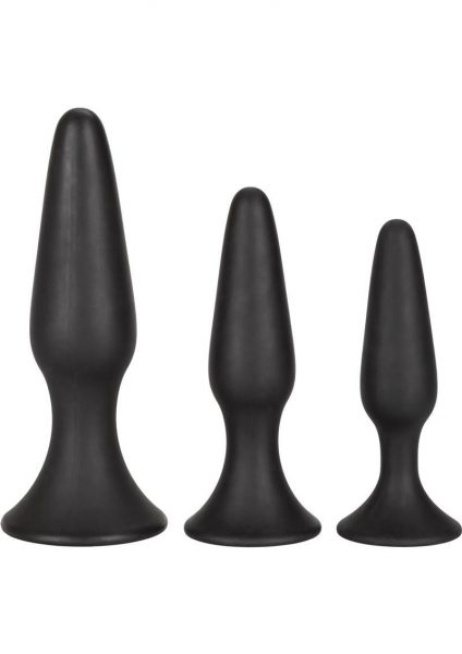 Silicone anal Trainer Kit Black 3 Sizes