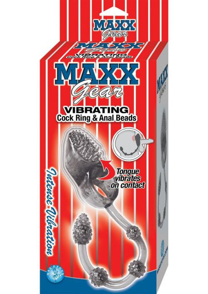 Maxx Gear Vibrating Cock Ring and Anal Beads Smoke