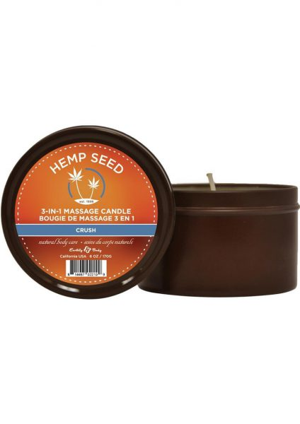 Hemp Seed 3 In 1 Massage Candle 100% Vegan Crush 6 Ounce