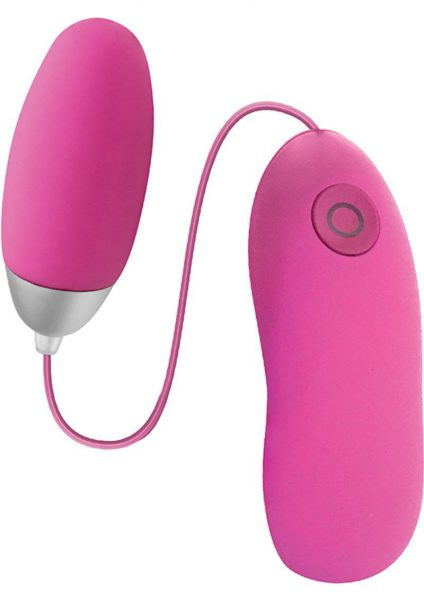 Seduce Me 7X Silicone Vibrating Bullet With Wired Remote Control Pink