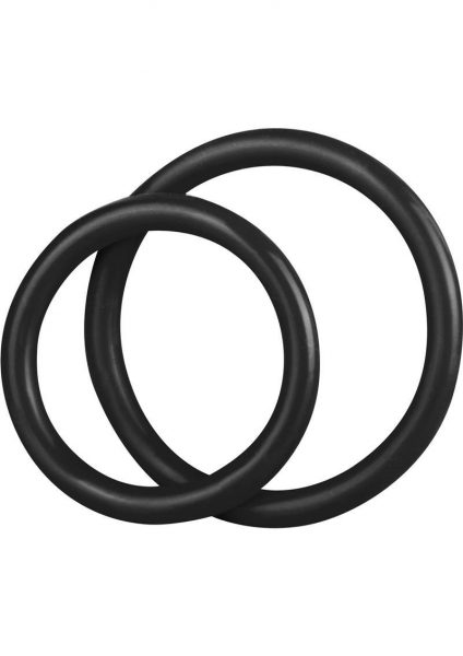 C & B Gear Silicone Cock Ring Set Black