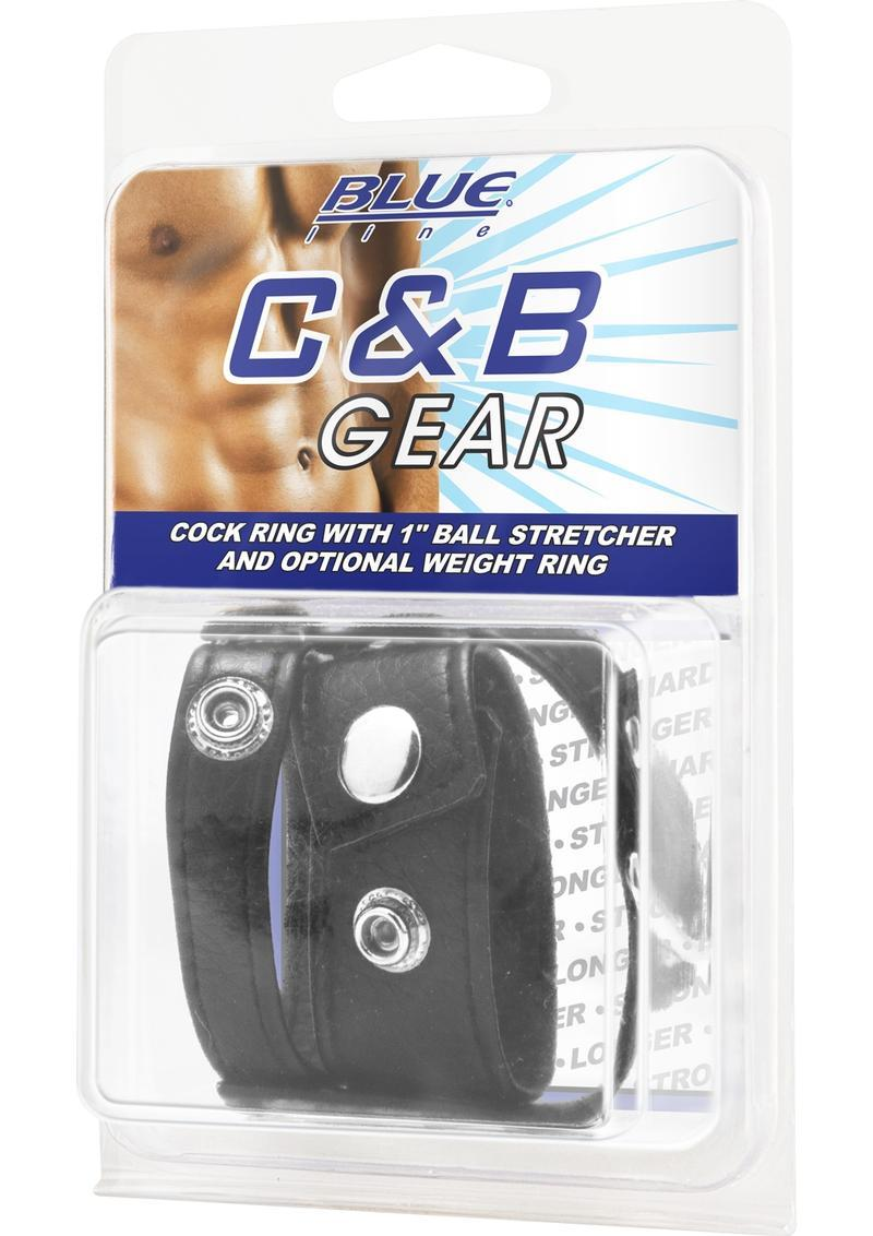 C & B Gear Cock Ring With Ball Stretcher 1 Inch
