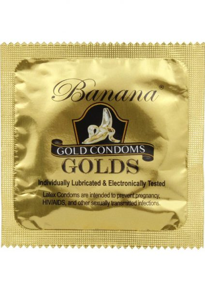Banana Golds Latex Condoms 12 Each Per Pack
