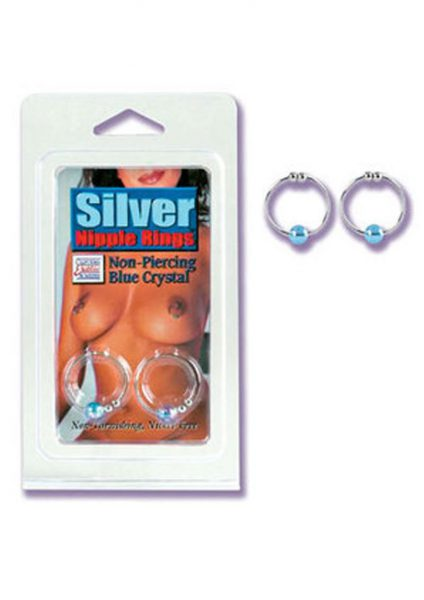 Nipple Rings Silver/blue