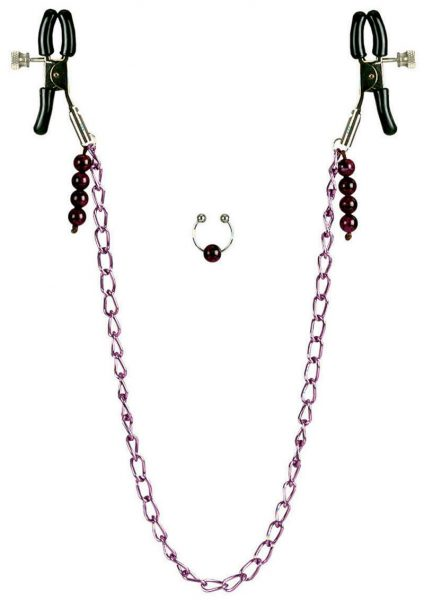 Nipple Clamps – Purple Chain